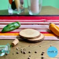 [BELI SATUAN] Wooden Coaster Natural/ Tatakan Gelas Natural slice wood