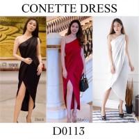 Sabrina dress/one shoulder dress/satin dress/black dress