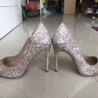 BERSKHA 36 STILETTO HEELS FULL GLITER FOR PARTY OR PHOTOSHOOT