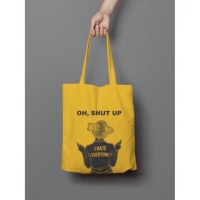 "Totebag - Fashion Wanita ""shut up"""