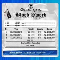 Rod Joran Jigging Piratez Strike Blood Sword Slower 56/4 PE 4