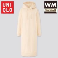 UNIQLO Women Dress Gaun Panjang Sweat Hoodie Wanita Sweater Off White
