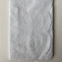 Taplak Meja Makan Plastik Segi 4-6 Kursi Putih - Size 137x183cm