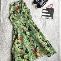 Dress Panjang Hijau Bunga