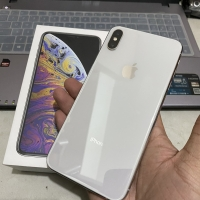 Iphone xs max silver 64gb second mulus like a new
