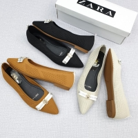 Zara flat shoes women slip on ballerina