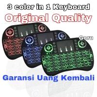 Keyboard Mini Original i8 colorful Warna mouse keypad wireless backlit