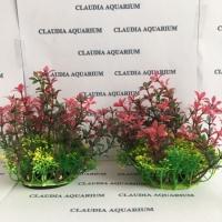 Tanaman Bunga Hias Plastik Aquarium Aquascape Import Aksesoris M530