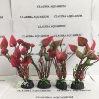 Tanaman Bunga Hias Plastik Aquarium Aquascape Import Aksesoris S352