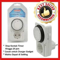 Stop kontak Timer Analog 24Jam kenmaster
