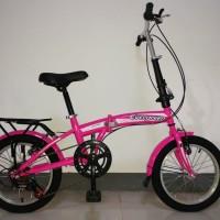 Sepeda Lipat Anak dan Dewasa Folding Bike Evergreen 16 6 Speed