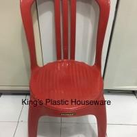 Kursi napolly 101 Plastik Sandaran Hijau dan Merah