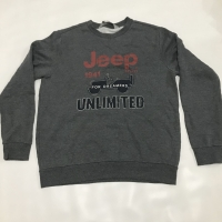 Crewneck JEEP Size Fit XL Abu-abu ORIGINAL