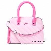 Tas Selempang Justice Quilted Chain Pink Crossbody Barbie Princess Bag