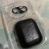 Case Casing Airpods Black Leather