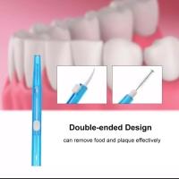 Interdental brush + tusuk gigi dalam kemasan higienis untuk kebersihan