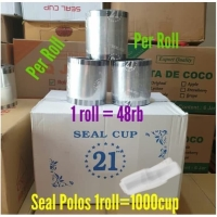 Plastik Seal Cup Polos / Roll Plastik Bening / Tutup Mesin Cup Sealer