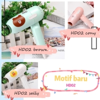 Hair Dryer Mini Folding Travel Lipat Brown Cony Sally Blow rambut