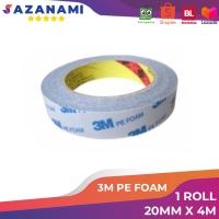 3M DOUBLE TAPE PE FOAM 20MM X 4M DOUBLE TAPE 3M PE FOAM TANPA COVER