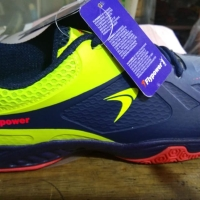 Sepatu Badminton Flypower Losari 3 Blue Navy/Citrus/Hot Pink