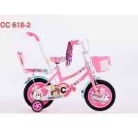 Sepeda Anak Dorongan Stir 12 Monchichi LOL