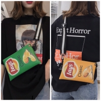 Tas Selempang Unik Lucu Adult Child Lays Fashion Korea Keripik Kentang