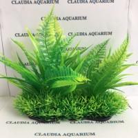 Tanaman Bunga Hias Plastik Aquarium Aquascape Import Aksesoris M669