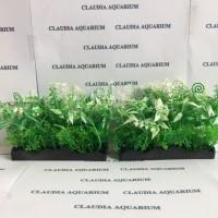 Tanaman Bunga Hias Plastik Aquarium Aquascape Import Aksesoris M479