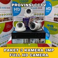 Paket CCTV 4 Channel 3 Kamera 3MP Full HD Camera Komplit HDD 320GB