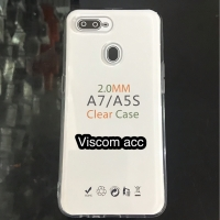 silicon bening oppo A5S / A7 jelly case clear transfaran a5s