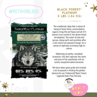 TimberWolf Legends Black Forest - Dog Food Makanan Anjing Hewan