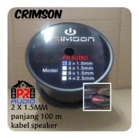 Kabel Speaker 2x1.5MM /2 x 1.5MM CRIMSON 100Meter(ORIGINAL)Best Seller
