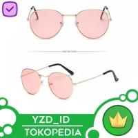 Kacamata ( Design Korea) Pria Wanita Besi Frame Round Transparant