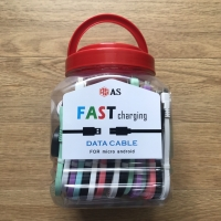 Kabel Data Fast Charging/ Usb Android Micro Merk AS /1 Toples isi=50pc