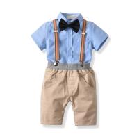 Setelan Anak kemeja Suspender Import( S1A)