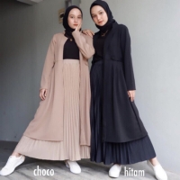 ROK PLISKET MURAH SKIRT PLEATED REMPEL BAWAH HYGET SUPER