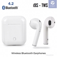 Headset Bluetooth PINZY I9s Twins with Magnetic Charging case - Putih