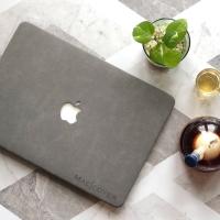 Macbook AIR 13 Inch Cover Hard soft Case casing Skin SUEDE BULU