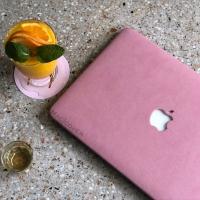 Macbook retina 12 Inch Cover Hard soft Case casing Skin SUEDE BULU