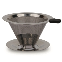Latina VV60-01 double mesh metal dripper filter with base 1-2cups
