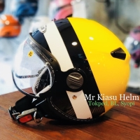 zeus 210 yellow black bumblebee helm retro vintage scooter pilot vespa