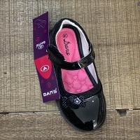 Sepatu sendal dans valida anak perempuan sekolah hitam sz 27-30