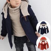 Jaket tebal bulu anak musim dingin/ winter unisex hoodie jacket kids