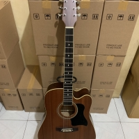 New Gitar akustik - elektrik jumbo trembesi