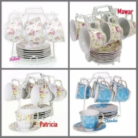 Tea set tanpa teko Vicenza / cup and saucer C78-1N