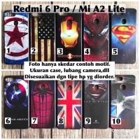 Softcase man case xiaomi redmi 6 pro mi A2 lite avenger marvel captain