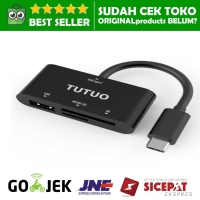 TUTUO CARD READER USB C OTG ADAPTER TIPE HUB SD Tf micro Multi mac s9