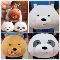 Bantal Boneka Bare Bear Bears Beruang Panda Kepala Import