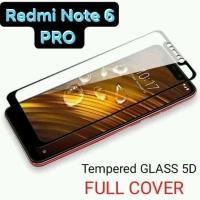 Temperedglass tempered glass temperglass 5D fullcover redmi note 6 pro