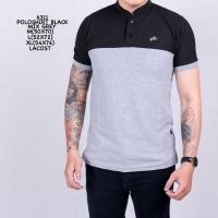 Kaos Six Polo Shanghai Black Grey / Poloshirt Cowok Murah